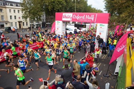 Daybreak's runners in the Oxford Half Marathon