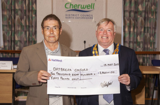 Chairman of Cherwell DC supports Daybreak