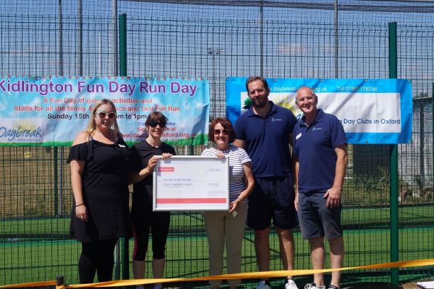Cheque Presentation from Legacy Leisure