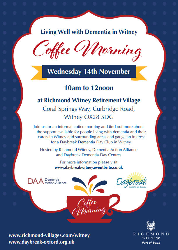 A new Daybreak dementia day club for Witney?