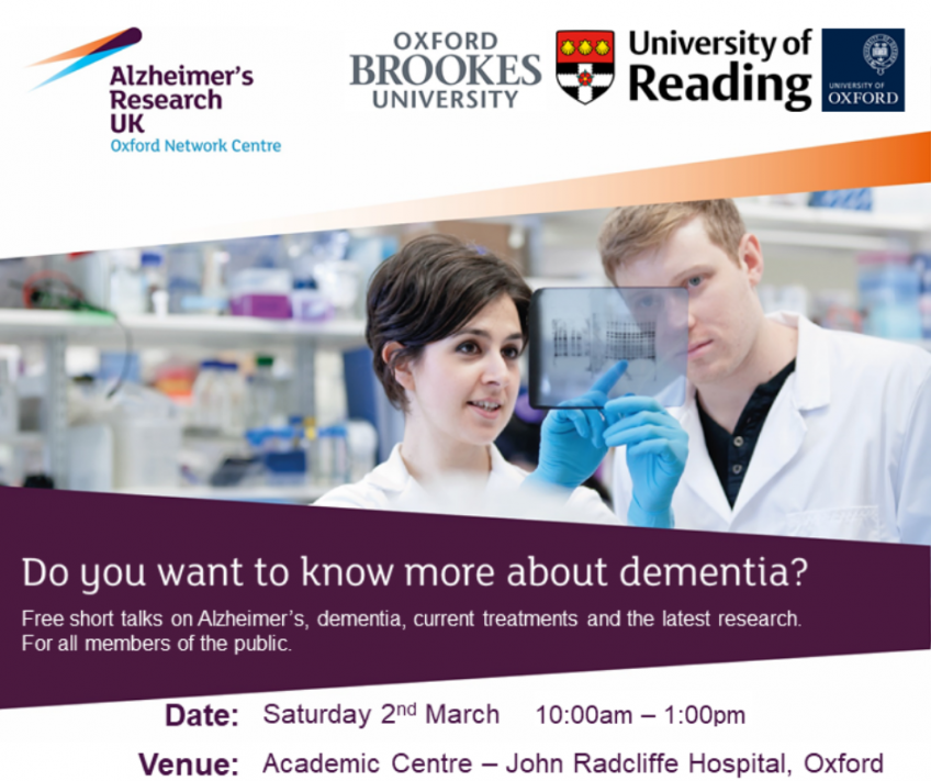 Dementia Information Day at the John Radcliffe