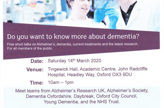 Daybreak to Attend ARUK Dementia Information Event